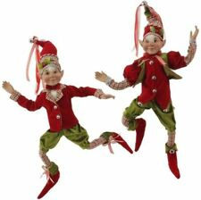 "RAZ (2) Elves 16"" Red & Green #3602247 - Set of 2 (FREE SHIPPING)"