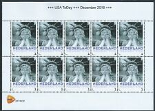 The Netherlands MNH USA Crying NY Statue of Liberty. Sheet of 10 stamps