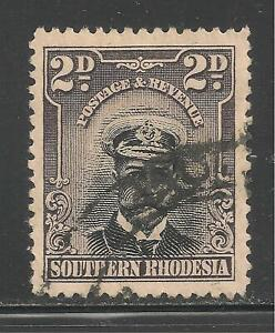 Southern Rhodesia #4 (A1) VF USED - 1924-30 2p King George V