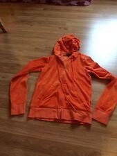 Small s juicy couture j bling pave orange velour hoodie zip up jacket long sleev