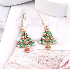 Women Ladies Christmas Earrings Tree Earings Dangle Alloy Jewelry Party N7