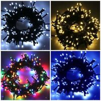 Solar Powered 500/100/200 LED String Fairy Lights Garden Outdoor Xmas Party Lamp