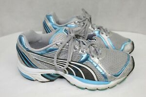 PUMA womens athletic shoes size 8 M leather and fabric upper excellent condition