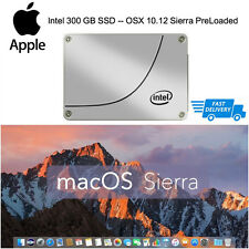 INTEL 300GB SSD Apple Macbook Pro Mac Mini iMac precaricata OSX Sierra 10.12 250