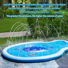 Kids Inflatable Water Splash Sprinkler Mat Spray Swim Pool Play Pad Outdoor Lawn