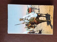 ca4 postcard Unused soldiers of sudan cavalier lone horseman