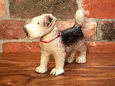 Cast Iron Black & White Scottie Scottish Terrier Dog Model Figurine