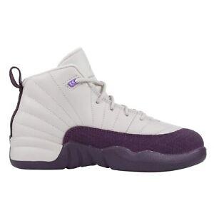 Jordan 12 Retro Desert Sand Little Kids 510816-001 Purple Shoes Youth Size 3