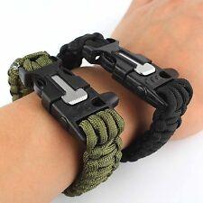 *****Bracelet de survie Paracorde avec Sifflet, Silex pour démarrer feu et corde