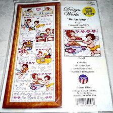 """Design Works Counted Cross Stitch Kit BE AN ANGEL 9"""" x 24"""""""