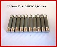3AB Ceramic Sicherung US Norm Keramik 10A 250V Träge 6,3x32mm 10 Stück