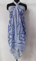 Cotton Sarongs Bikini Cover up Parioes Hand Block Print Bath Wear Neck Scarves