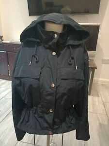 M&S Ladies Waterproof Jacket Navy Blue color Size 8 to fit chest up to 36Rins