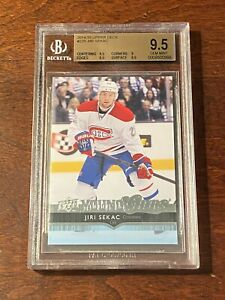 JIRI SEKAC 2014-15 Upper Deck Young Guns Rookie #229 BGS 9.5 GEM MINT Canadiens