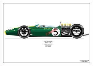 Jim Clark ltd.ed.signed art print- 1967 Lotus 49