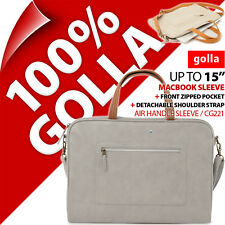 "GOLLA AIR poignée pochette APPLE MACBOOK 15"" Sac rembourré fin étui mallette"