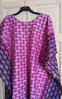 Ladies African print kaftan tunic top size 18 20 22 24 26 28 30 32