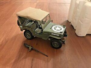Danbury Mint Diecast of 1940's Willys WW2 USA ARMY Military Jeep Olive 1:16