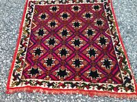 Antique rug. Vintage Tribalrug. Hand knotted. Nice design and colors, wool, 2x2