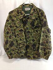 VTG Blue Bill Red Head Hunting Shirt Jacket Coat Mens Large Green Camouflage