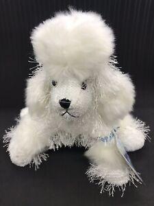 "GANZ WEBKINZ Poodle 8"" White Plush With Code Unused Stuffed Animal Toy Kids Baby"