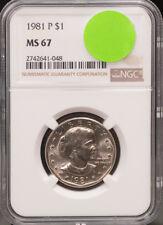 1981-P SBA$1 Susan B. Anthony Dollar Top Pop NGC MS67 No Better Key Date @3492