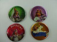 Lot of 4 Vintage 1980s Hallmark Muppets Miss Piggy Pinback Button Pins
