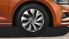1x Originale VW Polo 7 2G Aw Coprimozzo Copricerchi 15 Zoll Argento 2G0601147A