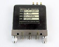 Dynatech D1-413E38T RF Coaxial Switch SMA Female Connectors 28 VDC DC-18GHz