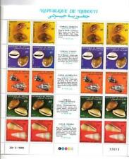 Animaux Coquillages Djibouti série complète 5 timbres neufs** 1er choix feuille