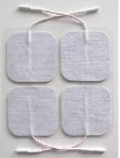 20 TENS Unit Electrodes - Adhesive ELECTRODE PADS 2 x 2 Inch White Cloth