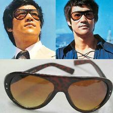 Bruce Lee Vintage Coffee Sunglasses Original Italy Design AVIATOR Mens & Women