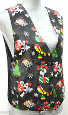 Looney Tunes Christmas Vest Taz Tweety Bird Bugs Bunny Daffy Holiday gift SZ S M