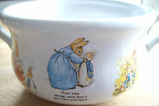 BEATRIX  POTTER PETER RABBIT LIMITED EDITION CERAMIC BOWL soup/flowers/baby