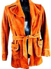 Vintage Leather Jacket Brown Suede 80s Boho Hippie Rocker