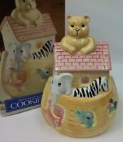 Home Trends Noahs Ark Ceramic Cookie Jar EUC with Box