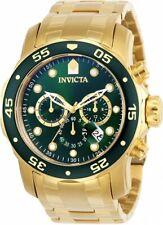 Invicta 0075 Men's Pro Diver Gold Tone Steel Green Dial Chronograph