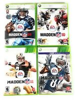 Xbox 360 Lot of 4 Madden NFL Football Games 08 10 11 13