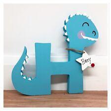 Personalised Wooden Letter Dinosaur - Baby Boy / Girl Gift Nursery Keepsake