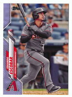 EDUARDO ESCOBAR 2020 TOPPS SERIES 2 FATHERS DAY BLUE PARALLEL #43/50 DBACKS #595