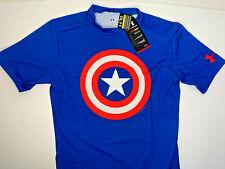 NWT 3XL Under Armour Alter Ego Captain America Marvel Compression Fit HEATGEAR