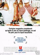 Publicité Advertising 1996 Magasins supermarchés Hyper U Super U Marché U