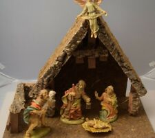 Vintage Nativity Figurines marked Italy Med/Large scale Creche See Photos