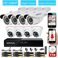 Eyedea 8 CH 1080N DVR 5500TVL 1080P CCTV Security Camera Night Vision System 1TB