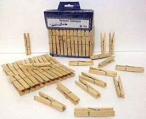 Extra Big Large Wooden Extra Strong Galavanised Coil Spring Laundry Clothes Pegs