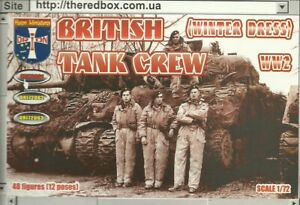 Orion 1/72 WW2 British Tank Crew (Winter Uniforms)
