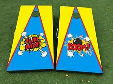 Pop Art BANG boom yeah baby Cornhole Board Game Decal VINYL WRAPS with LAMINATED