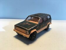 Diecast Majorette Jeep Cherokee No. 224 Green Wear & Tear Good Condition