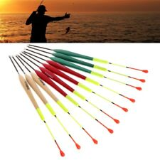 10Pcs Fishing Float Set Bobbers Paulownia Wood Fish Tackle Fish Accessories Tool