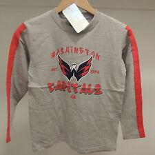 NHL Washington Capitals Long Sleeve Hockey Shirt New Youth LARGE